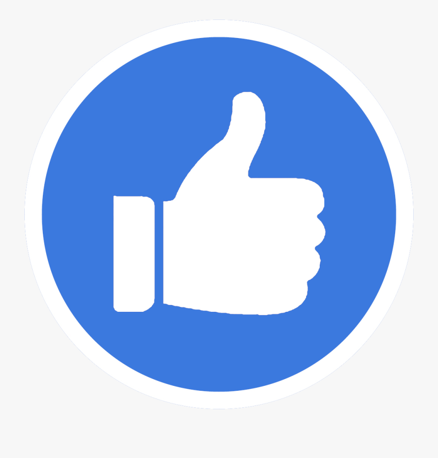 Thumbs Up For Restore Transparent Background - Facebook Messenger Round Icon, Transparent Clipart
