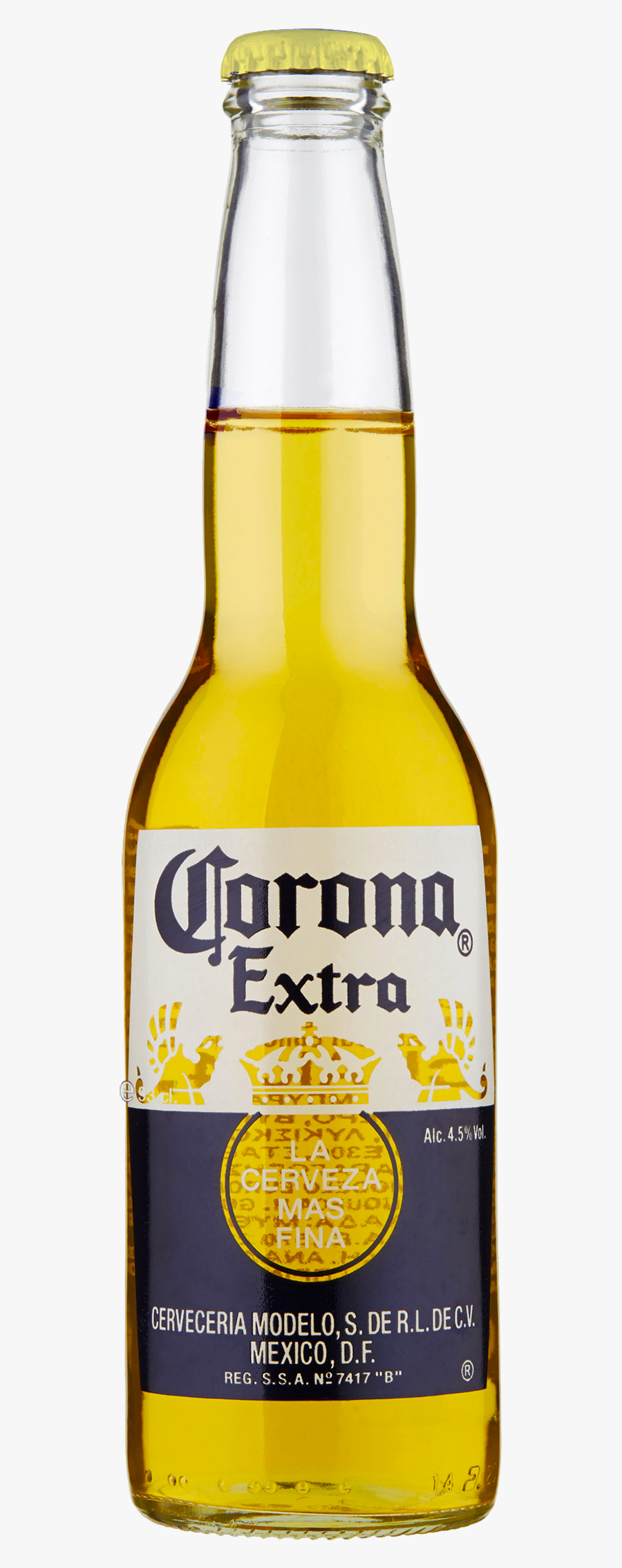 Corona Extra Beer Bottle - Corona Extra Beer Png, Transparent Clipart