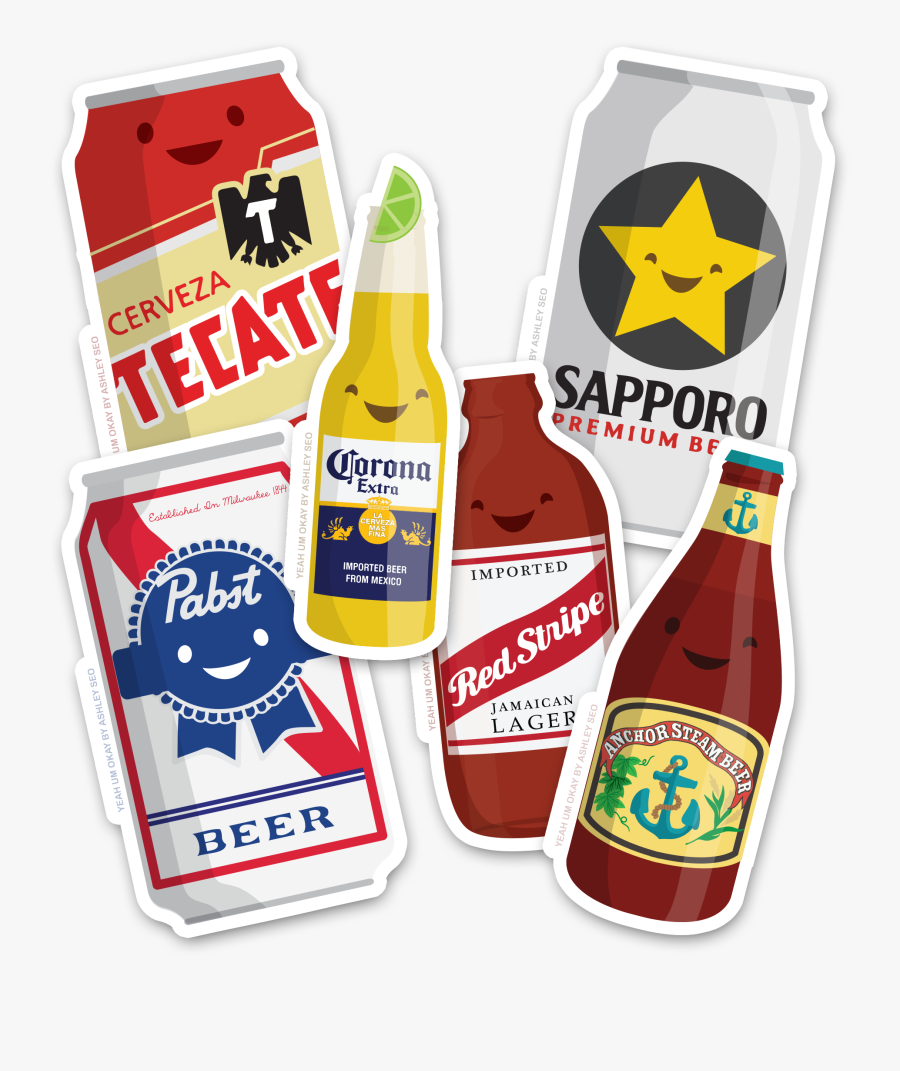 Image Of 6 Pack Of Cute Ass Beers - Tecate Beer, Transparent Clipart