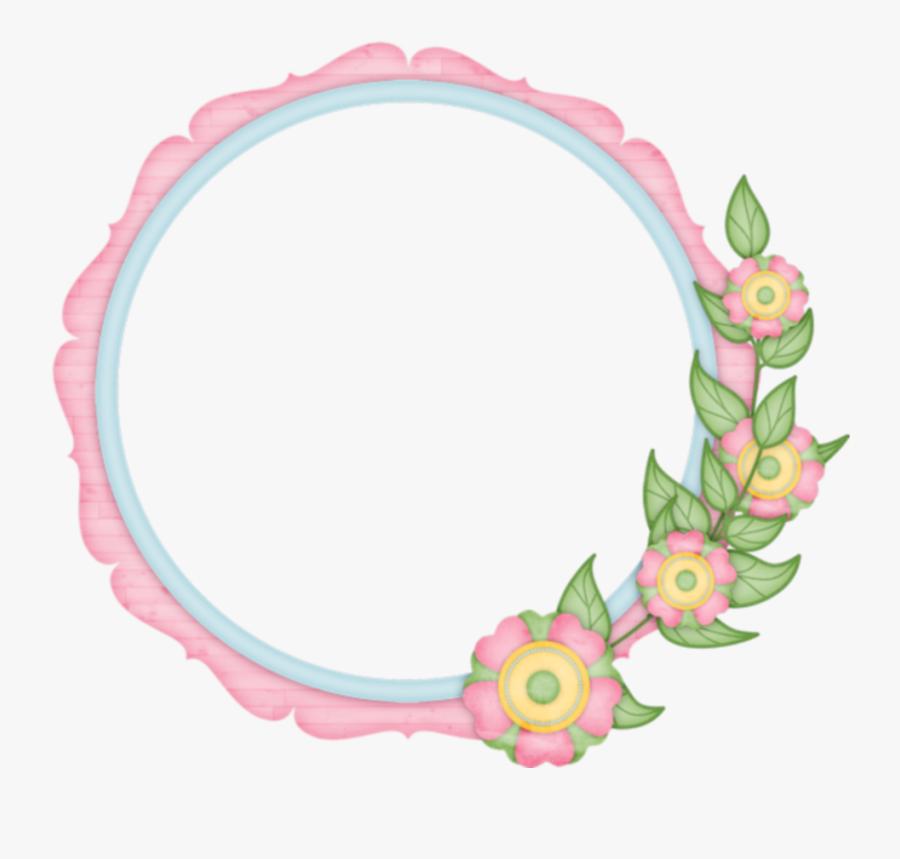 #mq #flowers #flower #circle #circles - Flower Circle Frame Png, Transparent Clipart