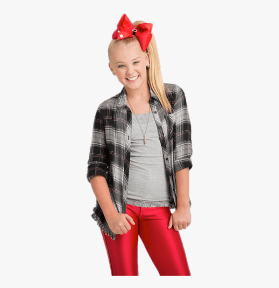 "Jojo With Red Bow In Hair"" 								 Title=""jojo With - Jojo Siwa With Her Bow, Transparent Clipart"