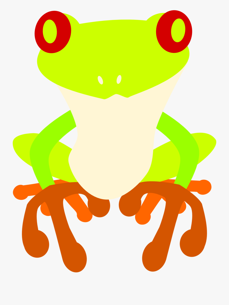 Transparent Tree Frog Png - Red-eyed Tree Frog, Transparent Clipart