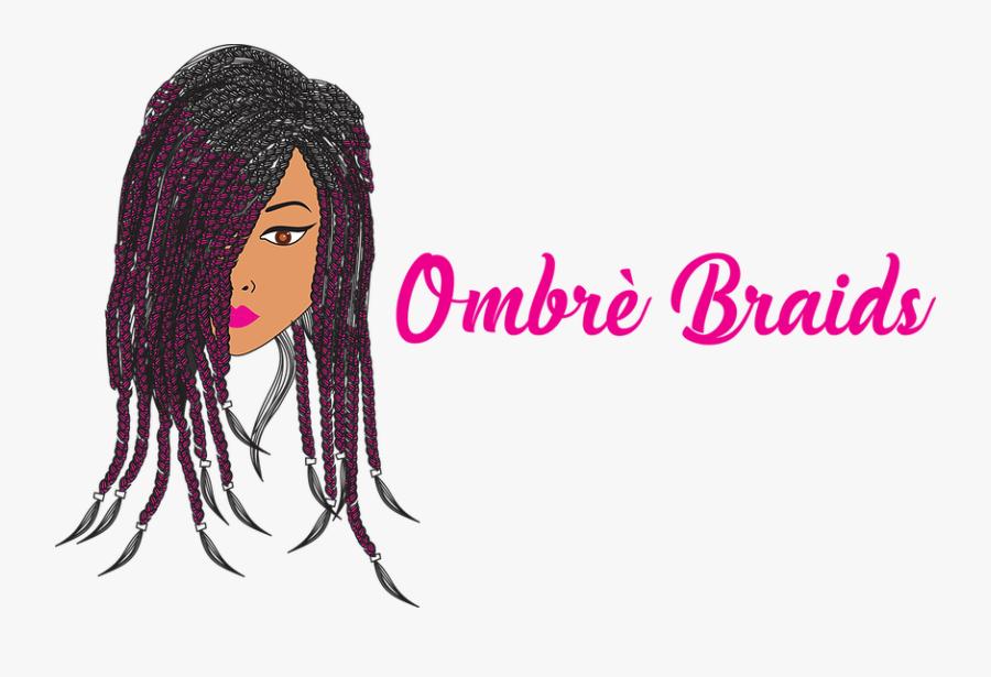 100% Kanekalon Braiding Hair - Girl, Transparent Clipart