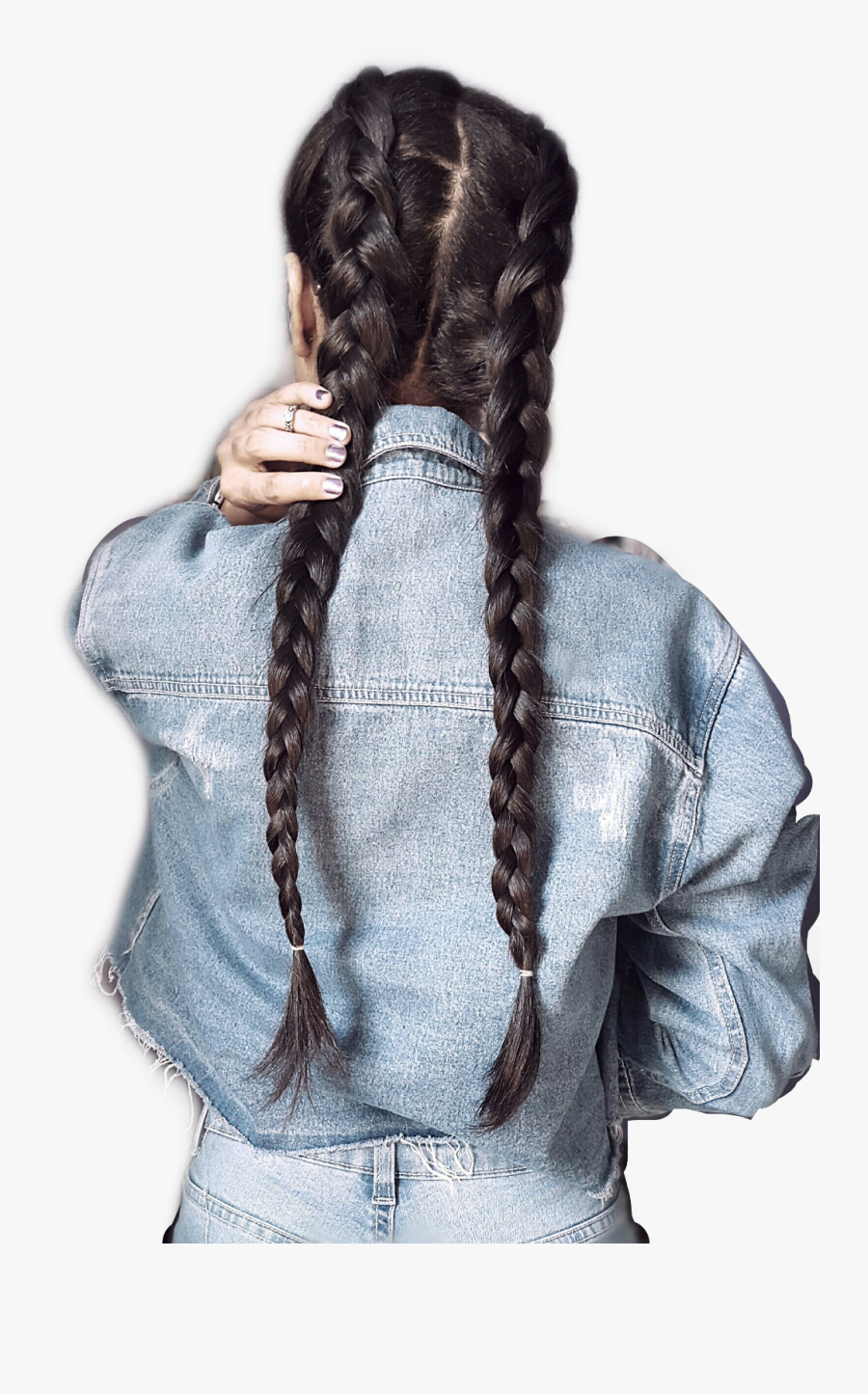 #braids #hair #longhair #woman #girl #freetoedit - Girl In Braids Quotes, Transparent Clipart