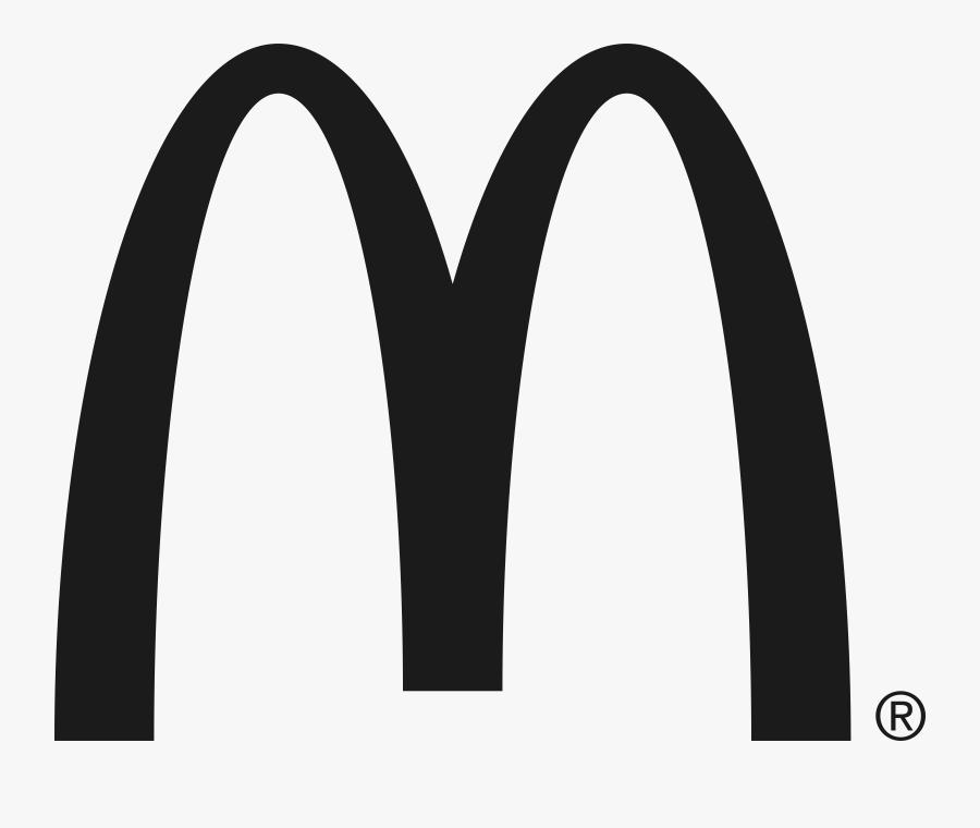 Mcdonald S Black Logo - Mcdonalds Black And White, Transparent Clipart