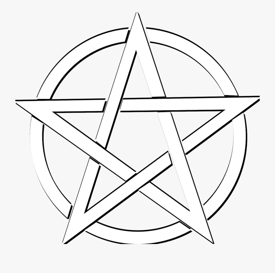 Pentacle Vector Inverted - Pagan Pentagram, Transparent Clipart
