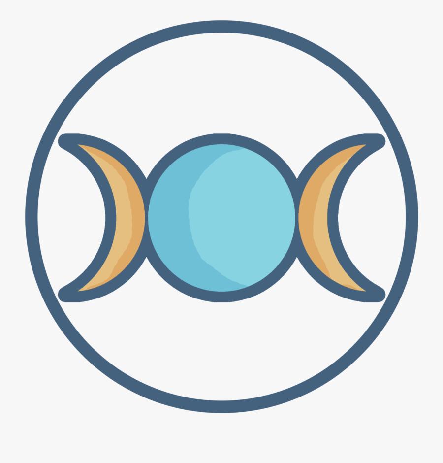 Pagan Clipart Triple Moon - Triple Goddess, Transparent Clipart