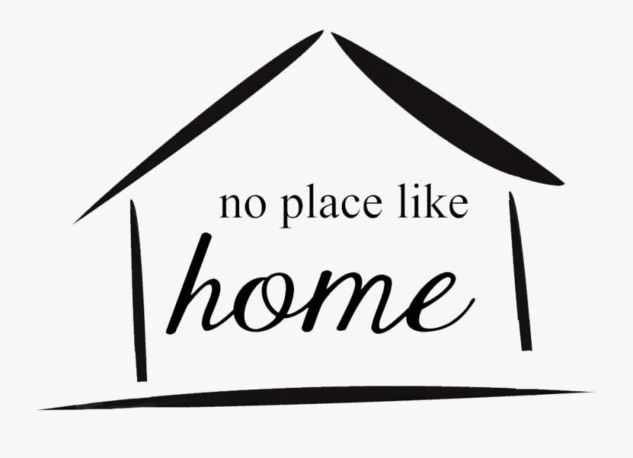 No Place Like Home - Calligraphy, Transparent Clipart