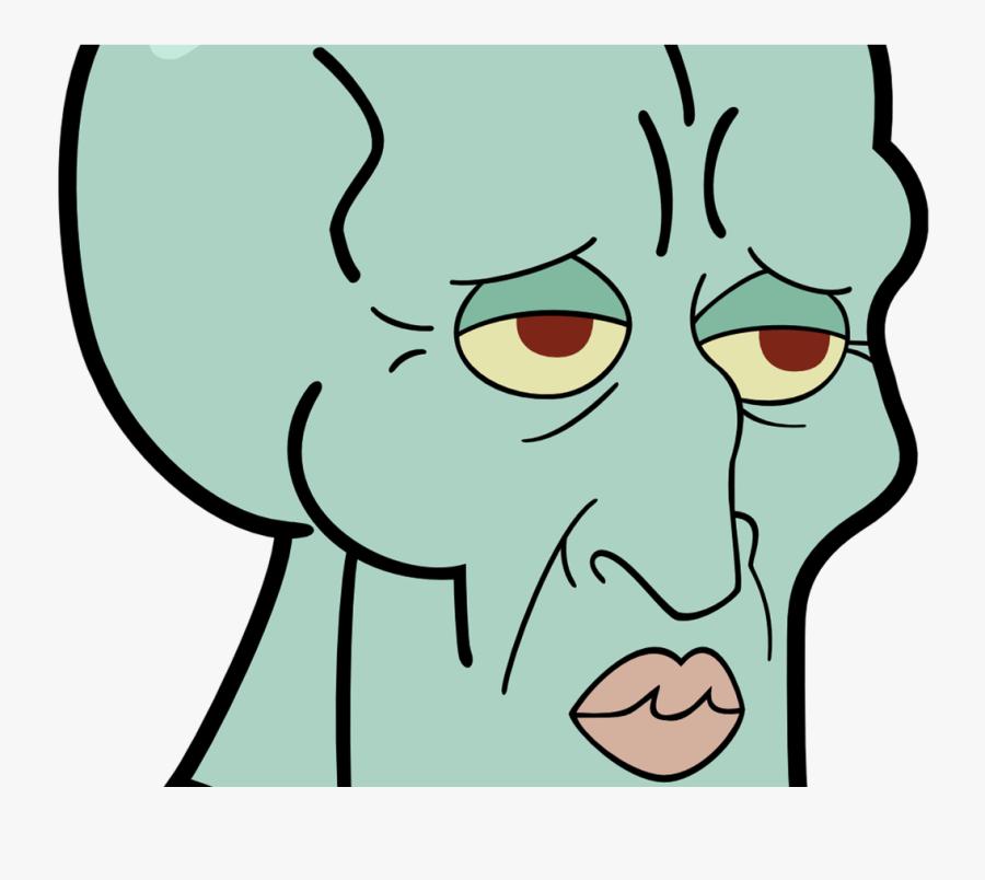 Zelius Handsome Squidward Meme Merch Spongebob Squarepants - Handsome Squidward, Transparent Clipart