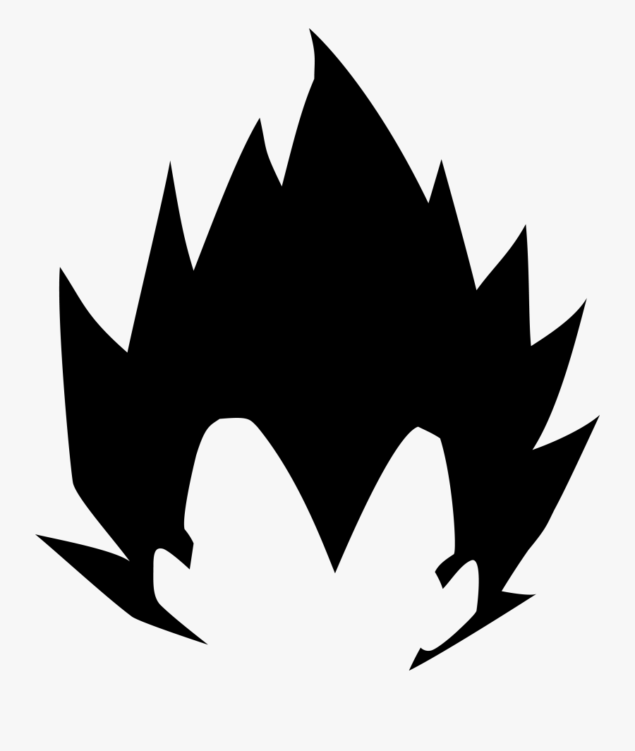 Vegeta Black And White Png Free Transparent Clipart Clipartkey