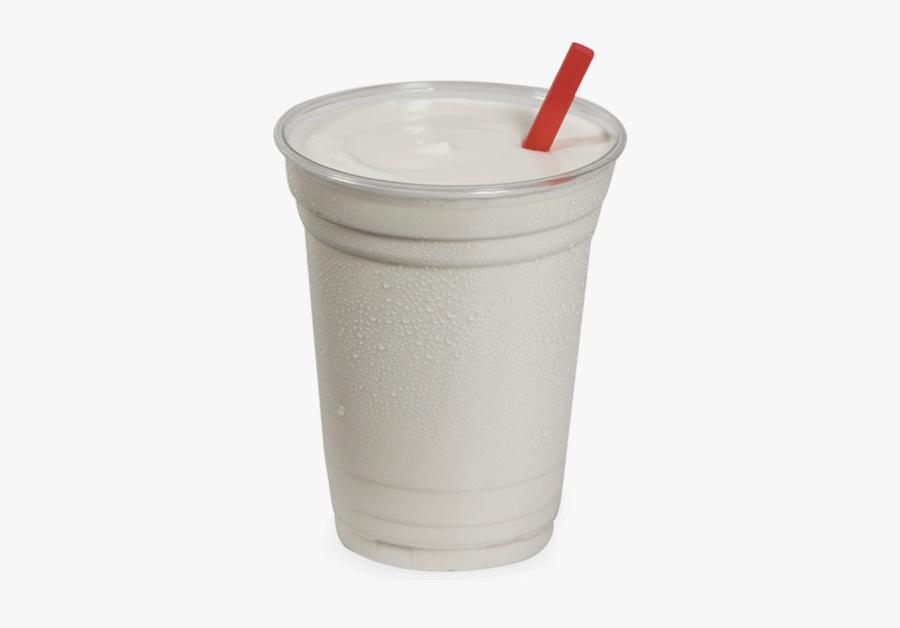 Vanille Thick Shake - Vanilla Milkshake In Plastic Cup, Transparent Clipart