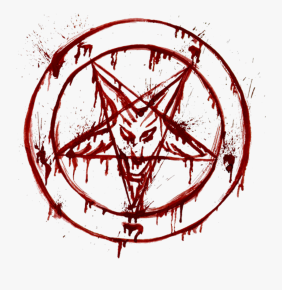 Bloody Pentagram Png, Transparent Clipart