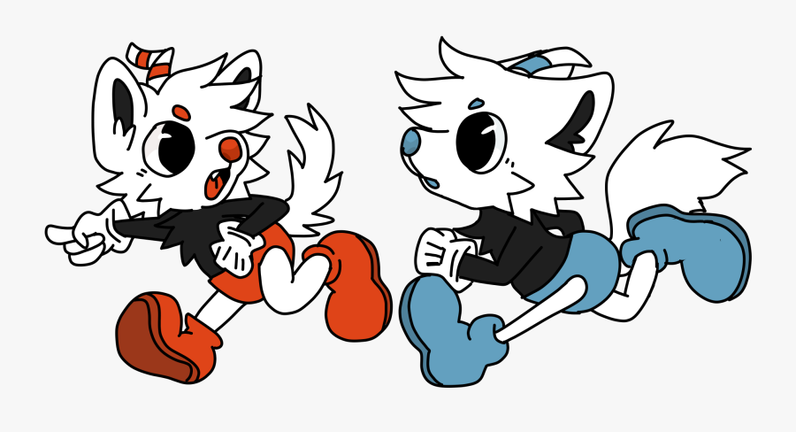 Furry Cup Brothers - Cartoon, Transparent Clipart