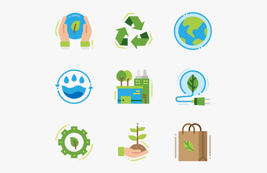 Icons Free Ecology Recycling - Vector Icon Travel Png, Transparent Clipart