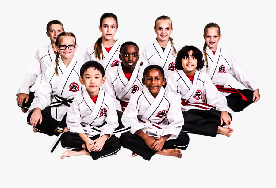 Tiger Rock Martial Arts Kids Sitting - Karate Kids Camp, Transparent Clipart