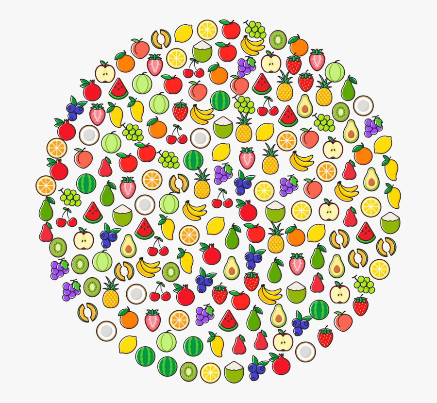 Area,circle,line - Fruit Logo In Circle Png, Transparent Clipart