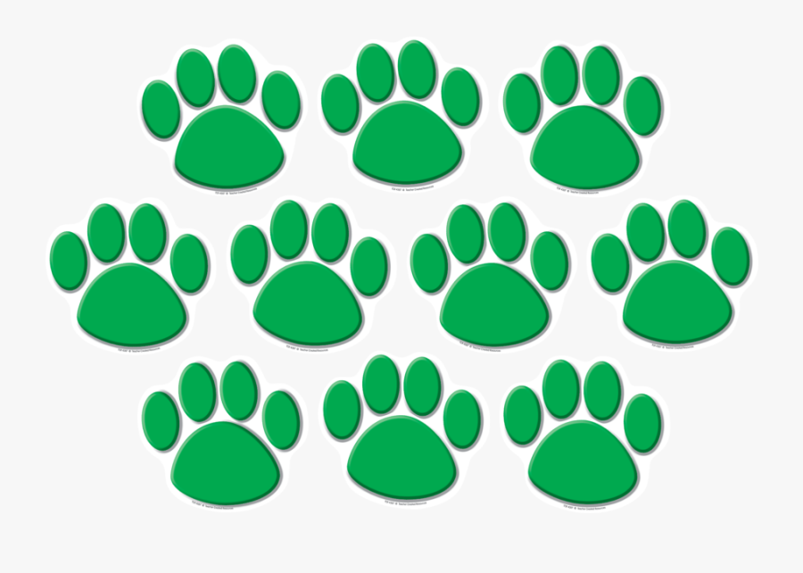 Tcr4387 Green Paw Prints Accents Image Clipart , Png - Teacher Created Resources Green Paw, Transparent Clipart