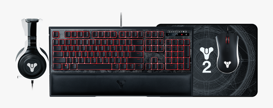 Keyboard Clipart Ergonomic - Destiny 2 Razer Ornata Chroma, Transparent Clipart