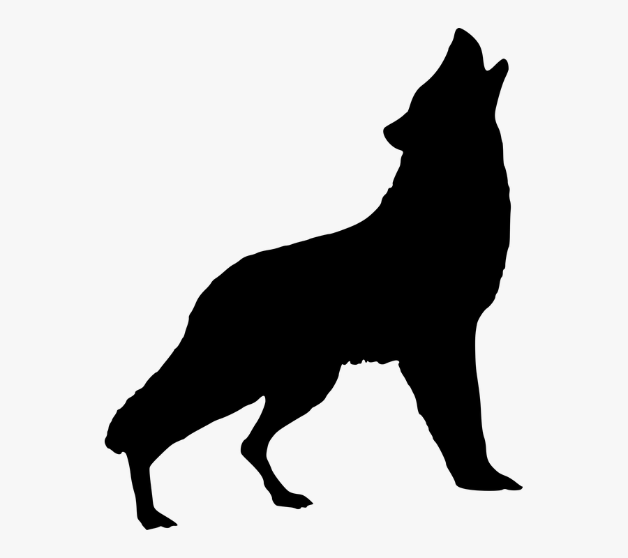 Wolf Howling Png, Transparent Clipart