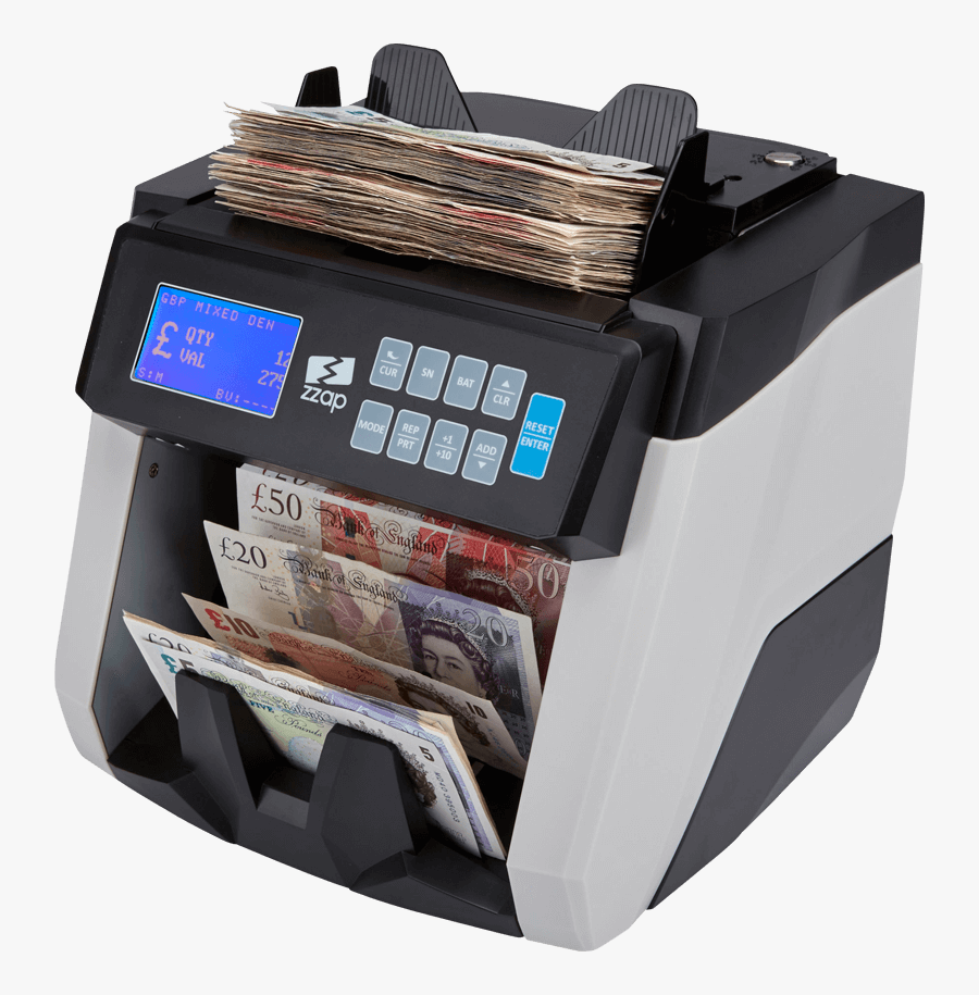 Clip Art Scanned Money - Money Counting Machine, Transparent Clipart