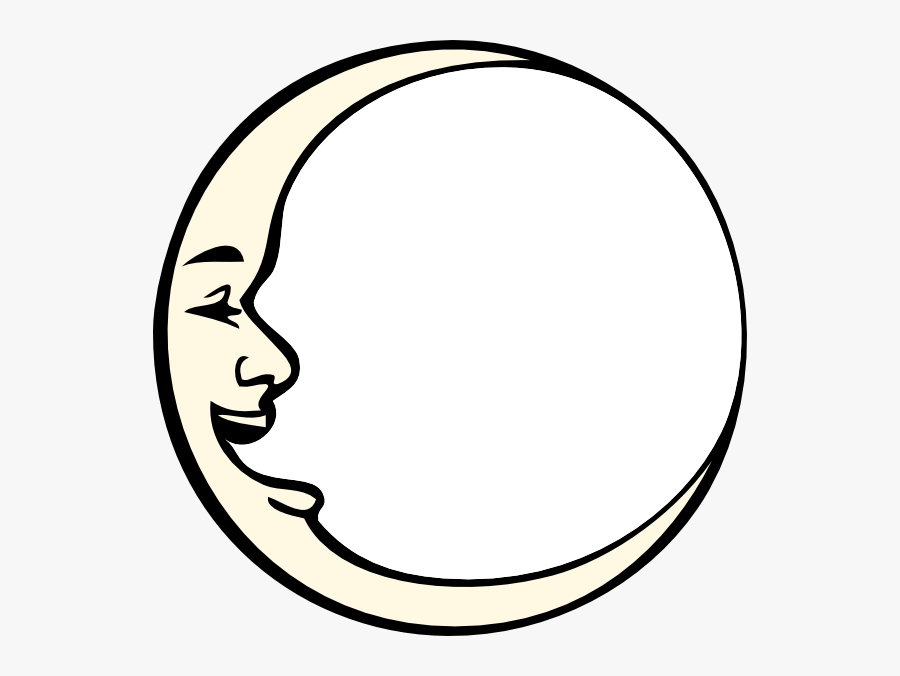 Transparent Lottie Moon Clipart - Black And White Outline Moon, Transparent Clipart