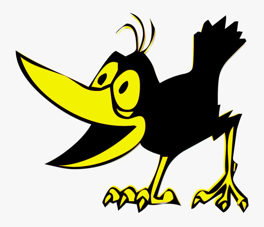 Picture - Crow Cartoon Png, Transparent Clipart