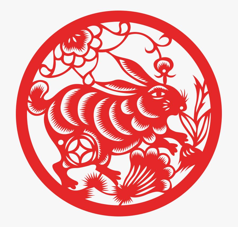 Fire Rabbit Chinese Zodiac, Transparent Clipart