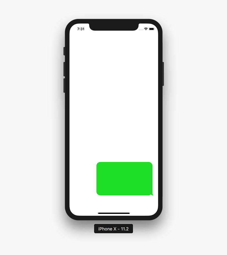 Iphone Text Bubble Png - Transparent Iphone Text Bubble, Transparent Clipart