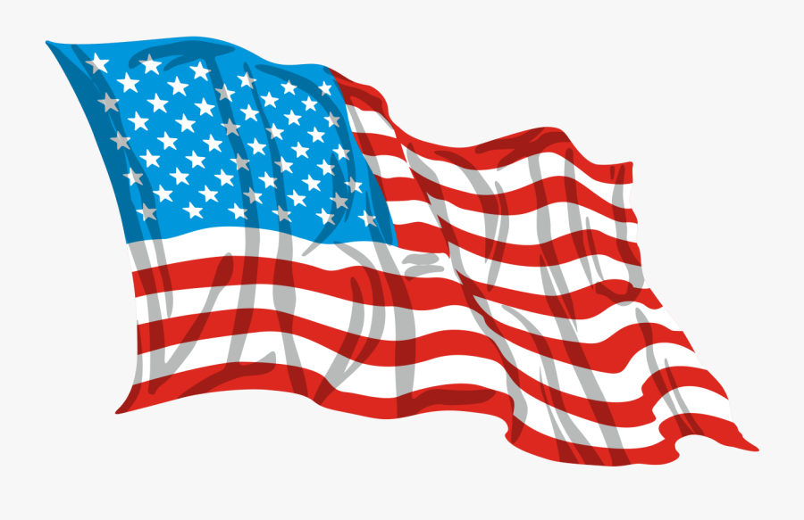 American Flag White Background, Transparent Clipart