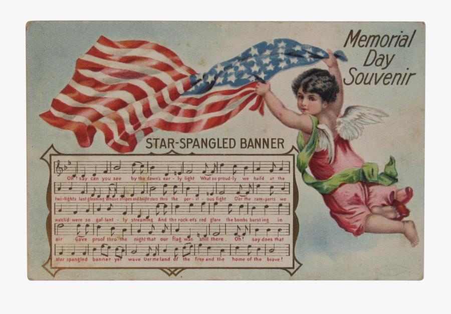 Vintage Memorial Day Postcard, Transparent Clipart