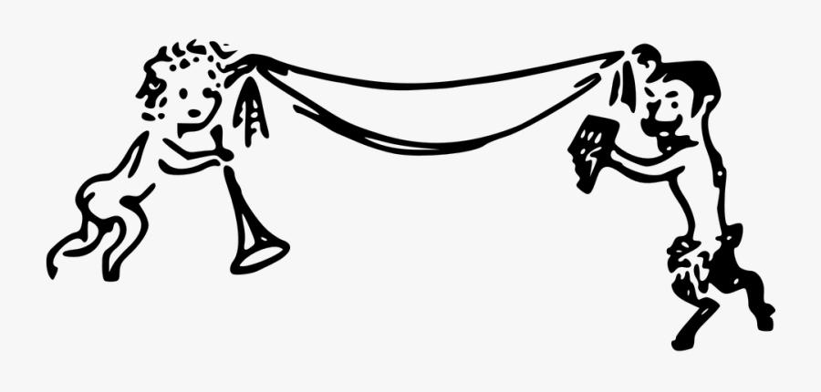 Banner Angel Trumpet Holding - Cherubs Holding A Sign, Transparent Clipart