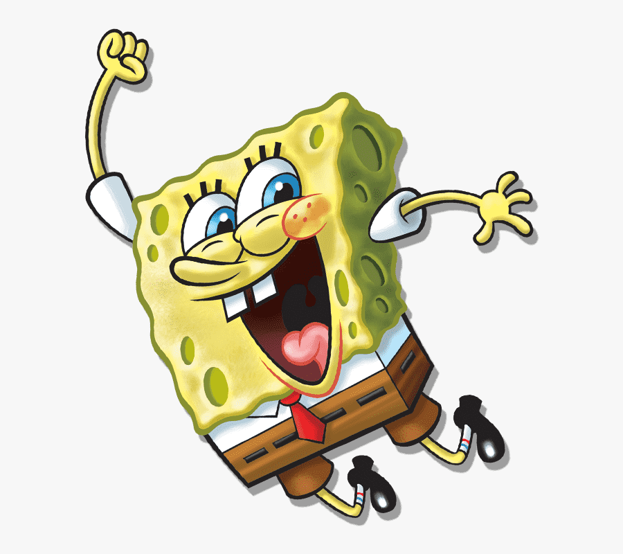 Transparent Spongebob Imagination Png - Spongebob Let's Party, Transparent Clipart