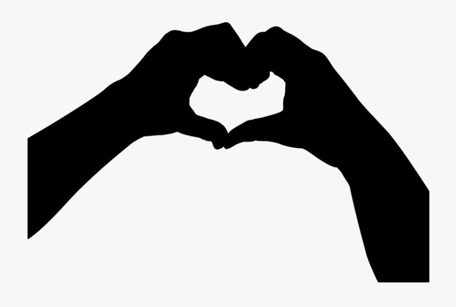 Hands Forming A Love Sign - Coração Com As Maos Png, Transparent Clipart