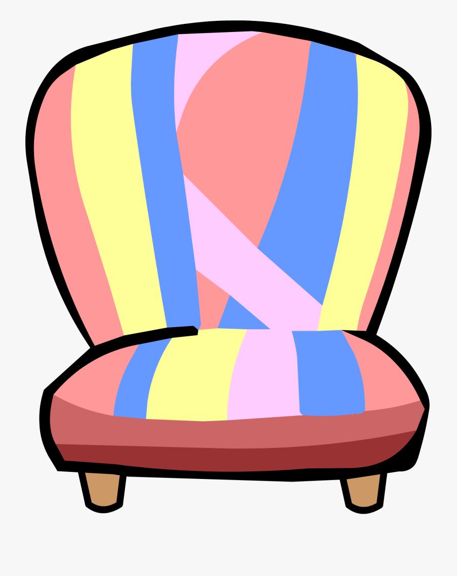 Chair Clipart Garden Chair Club Penguin - Club Penguin Furniture Png, Transparent Clipart