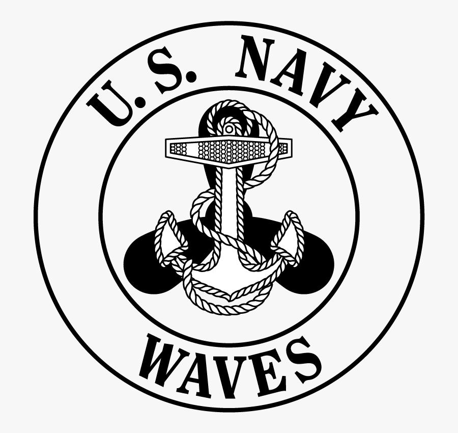 Navy Clipart Usn - Navy Waves Emblem, Transparent Clipart