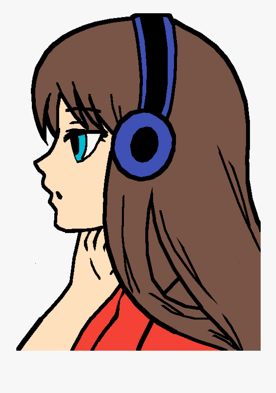 Anime Girl Not Colored, Transparent Clipart