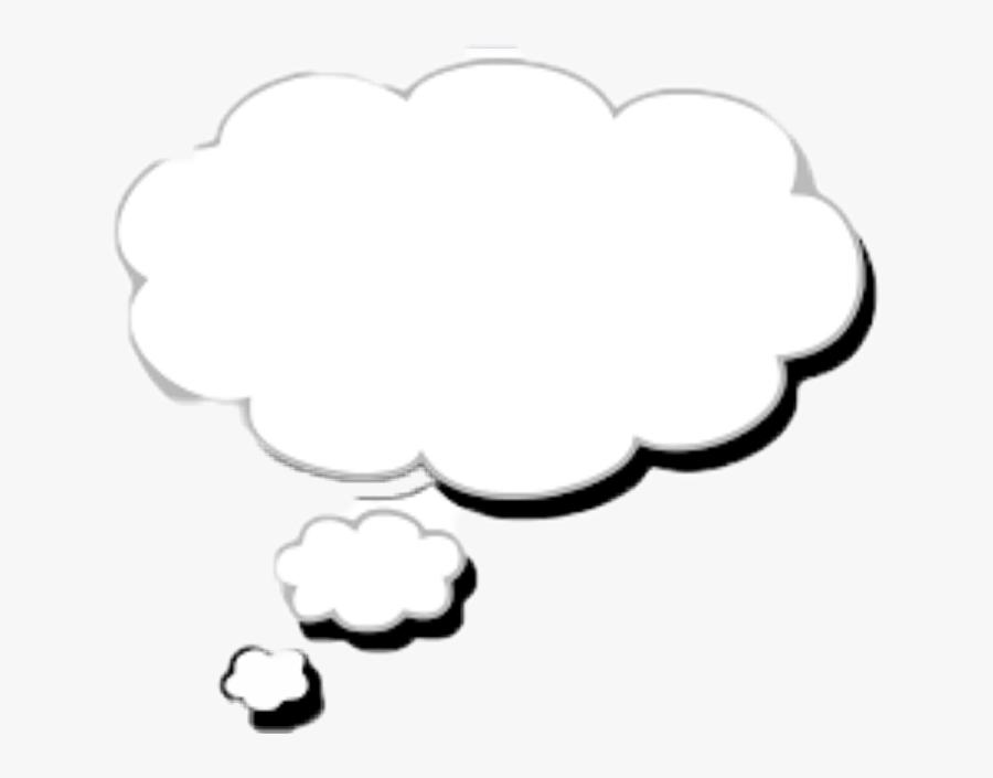 Transparent Pensando Png - Thinking Bubble Black Background, Transparent Clipart