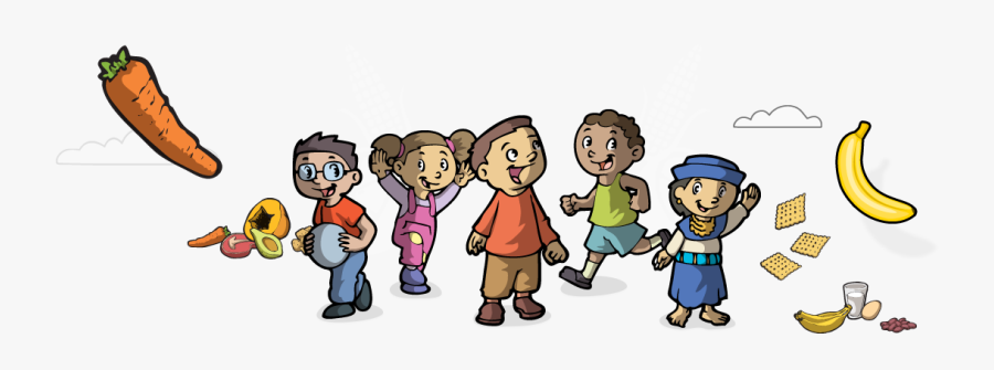 Healthy Kids Cartoon, Transparent Clipart