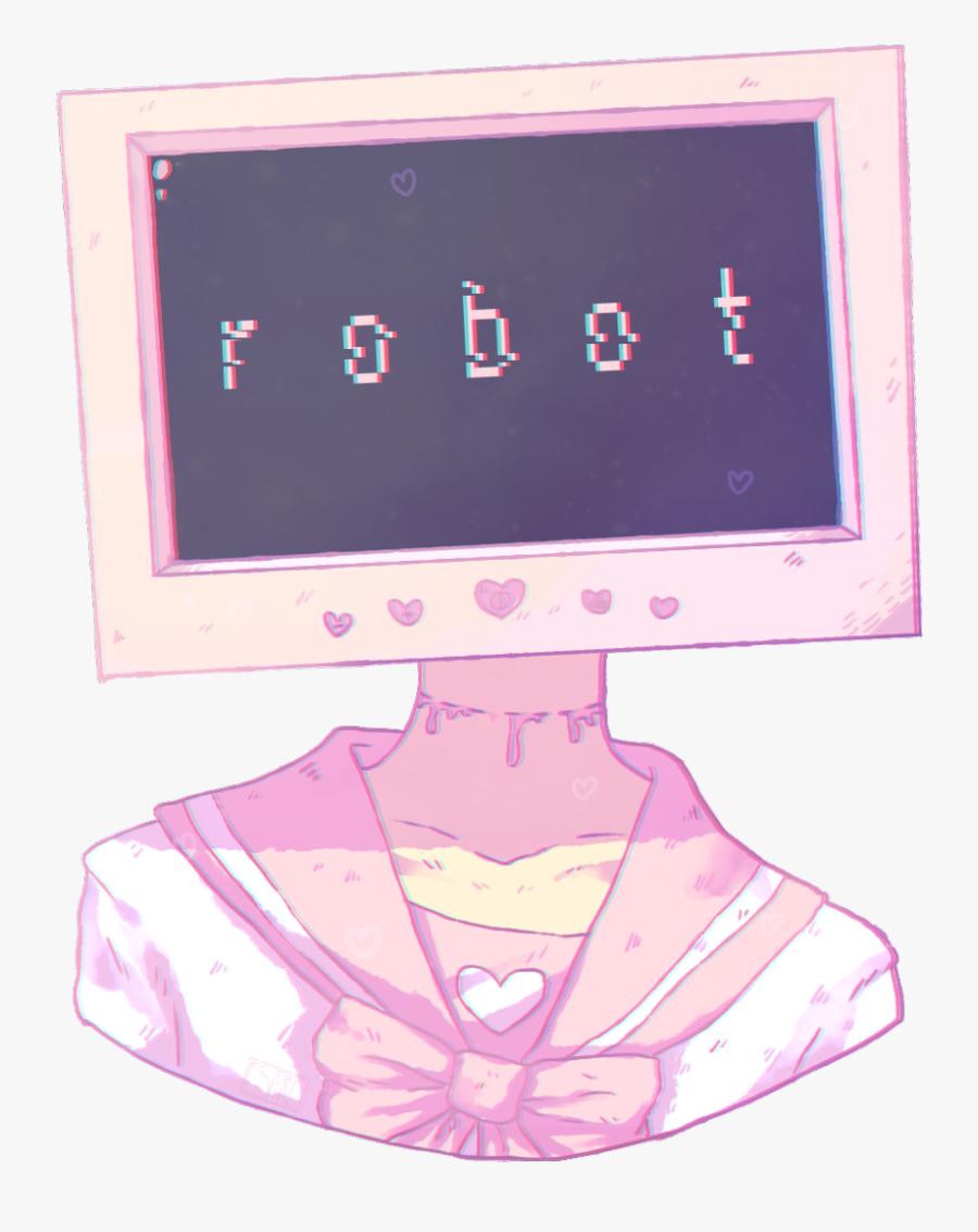 #girl #freetoedit #robot #girls #anime #animegirl #animegirls - Pastel Kawaii Pink Aesthetic, Transparent Clipart