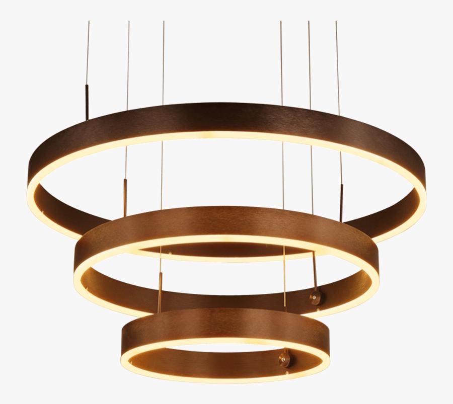 Light Luxury Chandelier Gold Ring Chandelier Living - Ceiling Fixture, Transparent Clipart