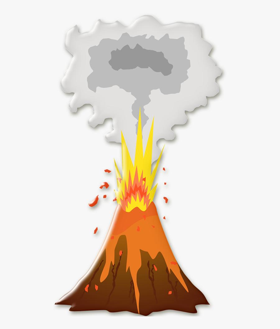 Pinterest Clip Art - Volcano Cartoon Png, Transparent Clipart