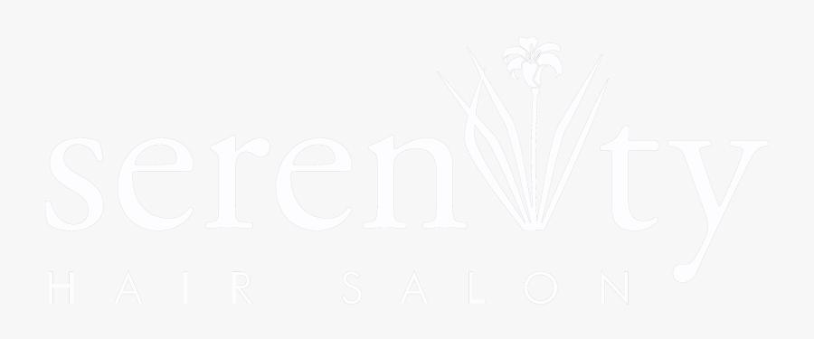 Serenity Hair Salon White Logo - Illustration, Transparent Clipart