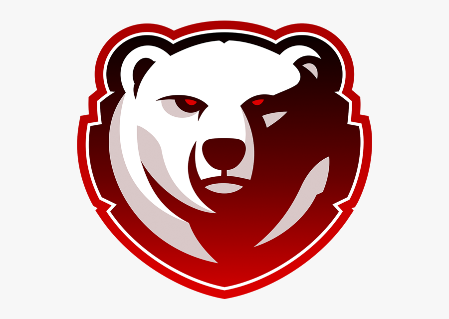 Transparent Bear Face Png - Red Gaming Logo Png, Transparent Clipart
