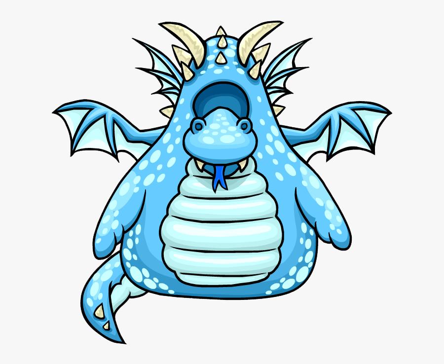 Blue Dragon Costume - Club Penguin Enchanted Dragon Costume, Transparent Clipart