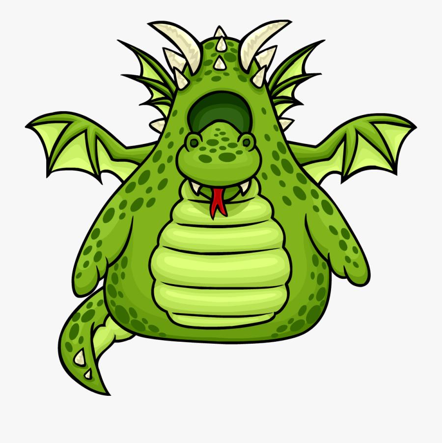 Green Dragon Costume - Club Penguin Enchanted Dragon Costume, Transparent Clipart