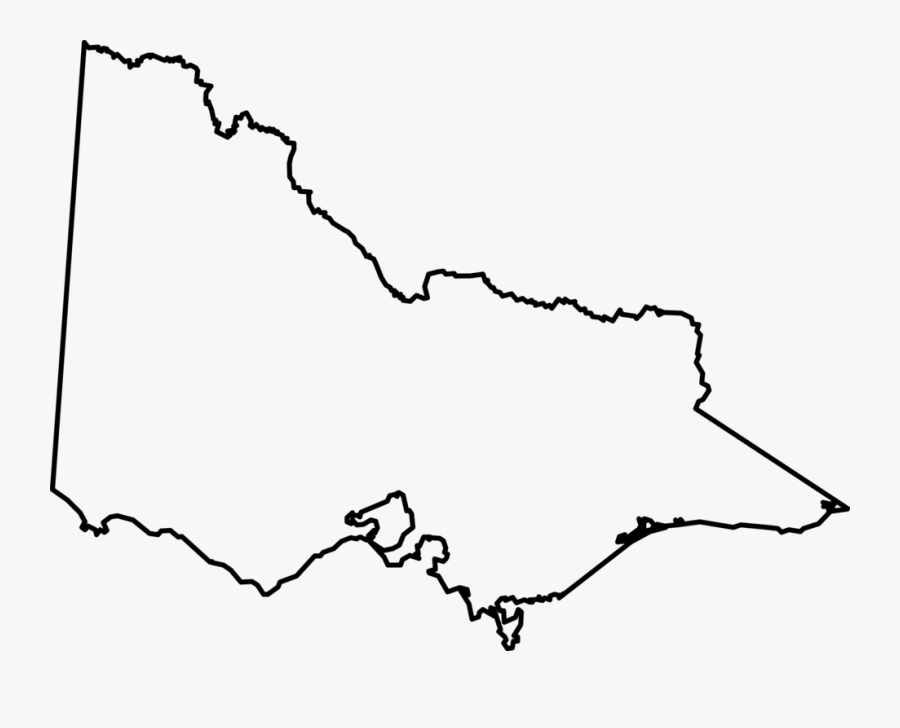 Line Art,angle,area - Victoria State Map Outline, Transparent Clipart
