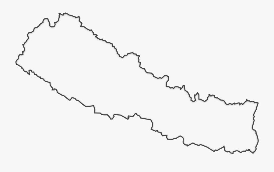 Transparent Nepal Png - Clip Art Map Of Nepal, Transparent Clipart
