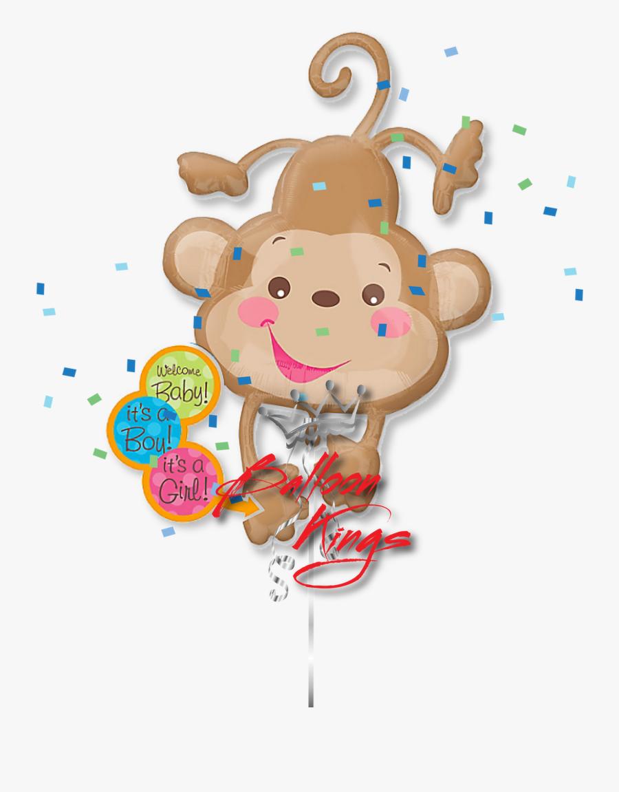 Baby Shower Fisher Price Monkey - Baby Shower Clip Art Baby Monkey, Transparent Clipart