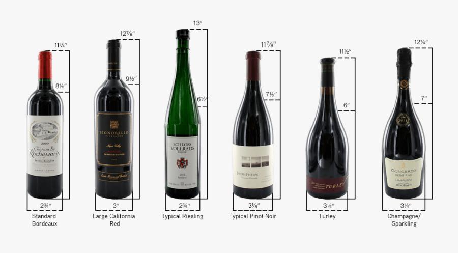 Transparent Wine Bottle Outline Png - Standard Wine Bottle Dimensions, Transparent Clipart