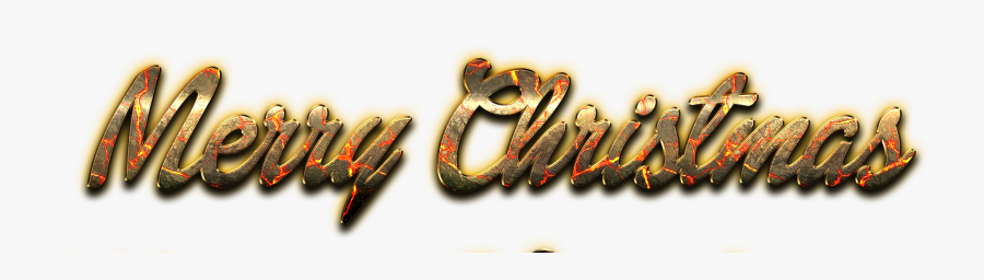 Merry Christmas Word Art Png Image - Png Merry Christmas Logo Png, Transparent Clipart